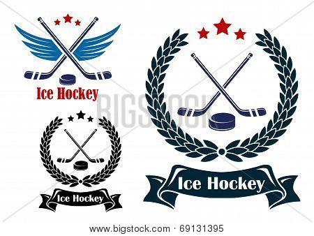 Ice Hockey sports emblems