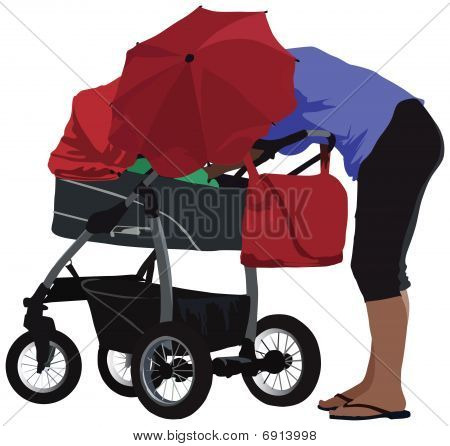 Mother with carriage