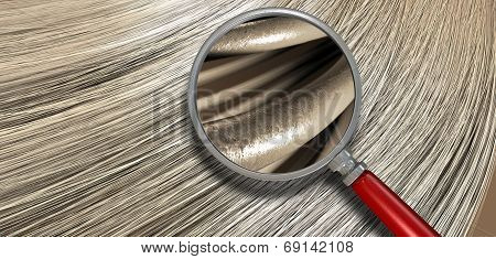 Blonde Hair Blowing With Magnification