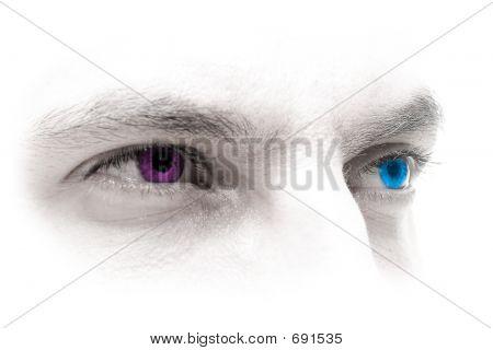 Augen blau-Magenta