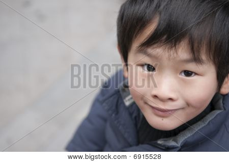Happy Little Boy In China