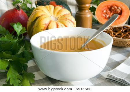 Pumpkin Soup With Clipping Path