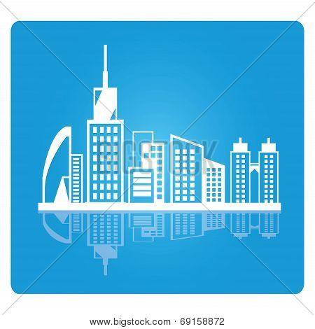 city skyline, downtown