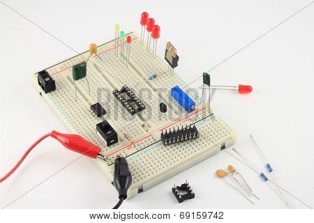 Pcb Breadboard Test Circuit Under Construction