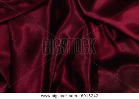 Texture Of Burgundy Satin Silk