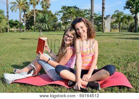 Two Girl In Meadow