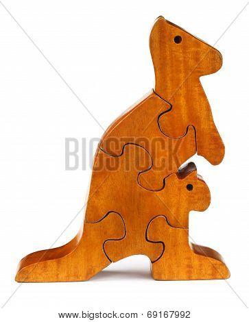 Puzzle Blocks Make A Kangaroo