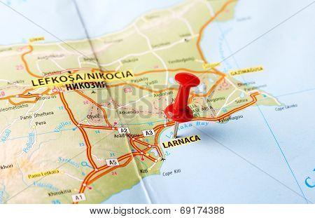 Larnaca Cyprus  Map