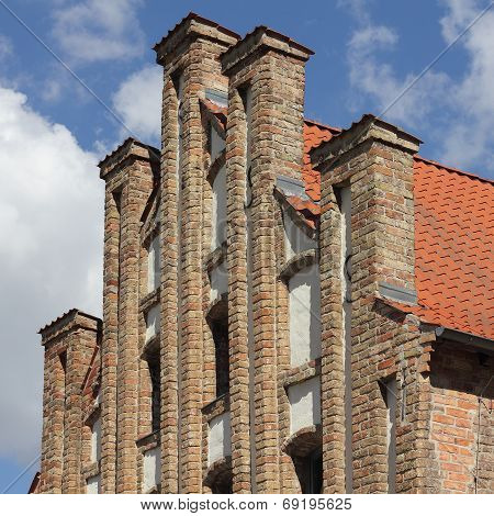 Gothic Gable In Anklam In Germany