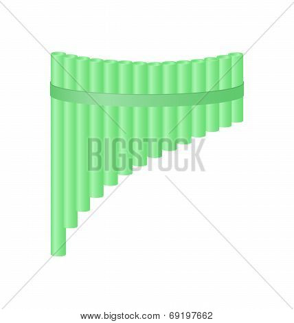 Pan flute in light green design