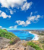 San Giovanni beach in hdr tone, Sardinia poster