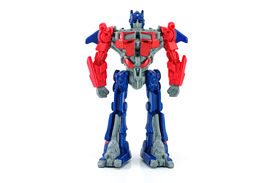 Optimus Prime Toy Character From Transformers Movie.