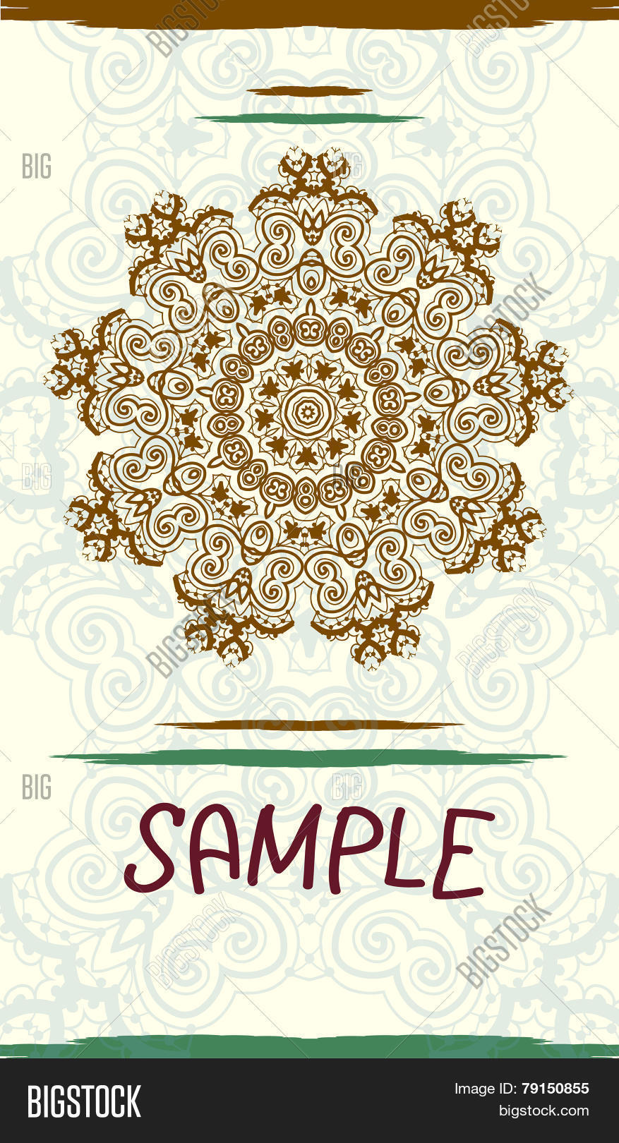 Vertical design vector photo free trial bigstock vertical design wedding invitation card based on traditional tribal mehndi henna art vintage decora stopboris Images