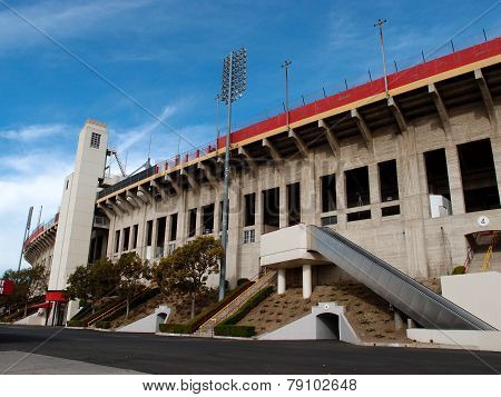 Exterior Of Memorial Coliseum Stadium