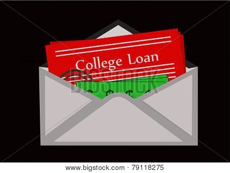 Envelope college loan paperwork over due