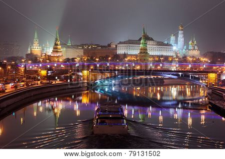 Moscow Kremlin night lights