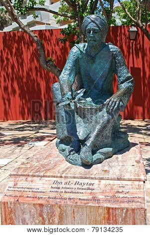 Ibn al Baytar statue, Benalmadena.