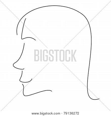 Stylized Woman Profile