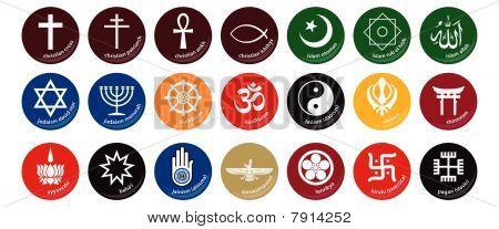 Icono de religión del mundo