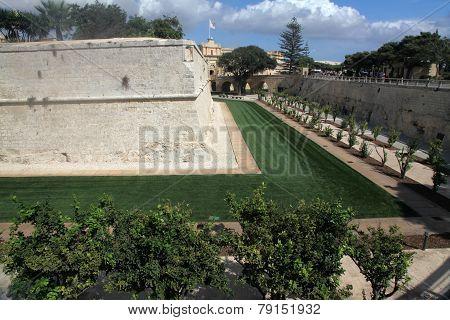 Moat Garden, Mdina, Malta