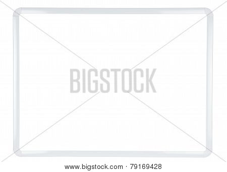 White Board On White Background