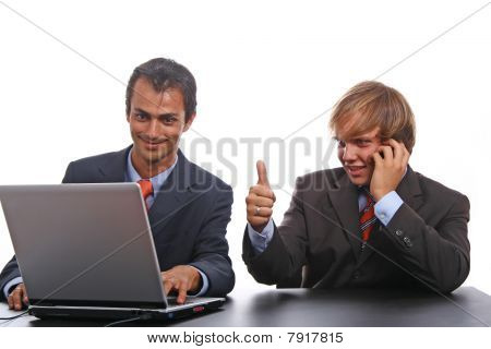 Corporate Person Using Laptop