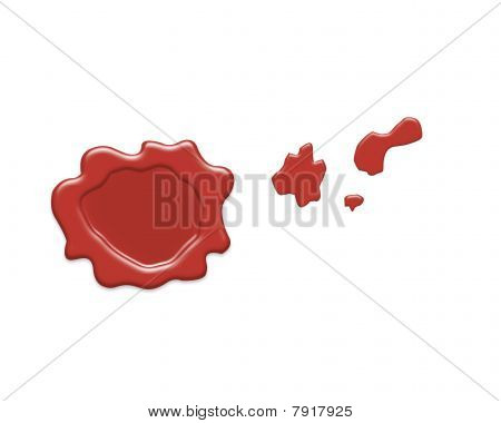 Stamp of wax
