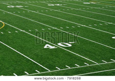 40 Yard-Linie auf american-Football-Feld