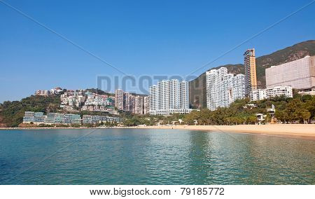 Repulse Bay beach in Hong Kong, China