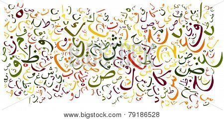 Arabic Alphabet Background