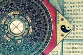 old feng shui compass poster