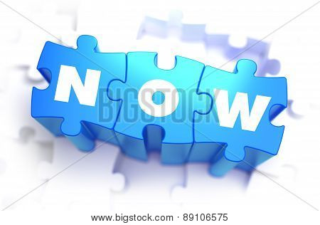 Now - Text on Blue Puzzles.