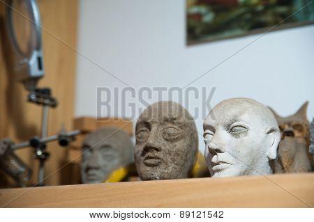 Sicilian Puppets Heads
