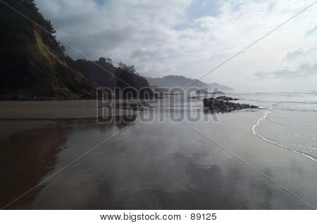 Beach Stroll Reflections