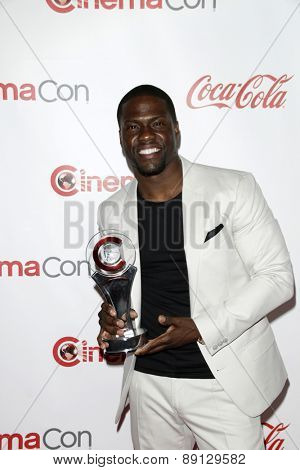 LAS VEGAS - APR 23:  Kevin Hart at the CinemaCon Big Screen Achievement Awards at the Caesars Palace on April 23, 2015 in Las Vegas, NV