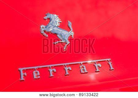 Ferrari Logo Car On Display