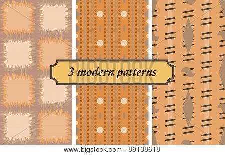3 Modern Seamless Patterns