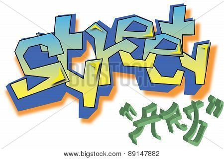 Vector Graffiti street art