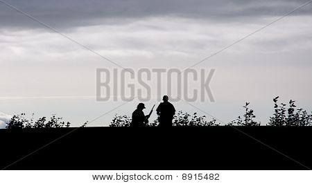Man With Shotgun Silhouette