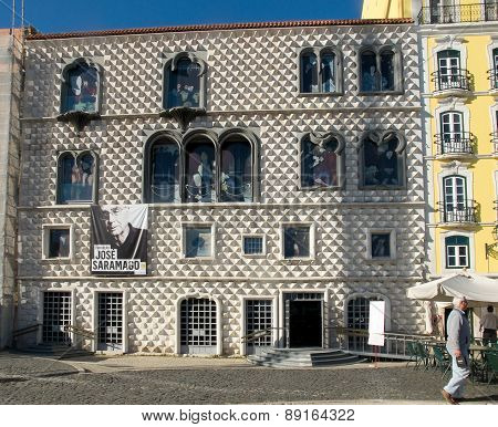 Jose Saramago Foundation In Casa Dos Bicos In Lisbon, Portugal.