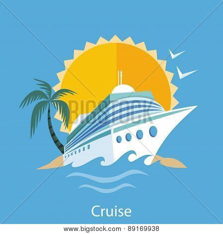 Cruise Ship. Water Tourism.
