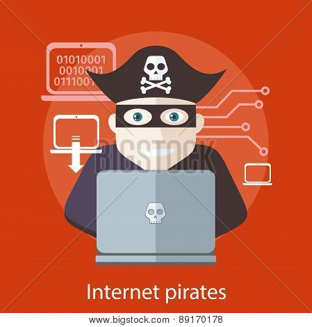 Internet Pirates Concept