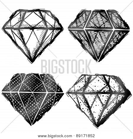 Hand Drawn Diamond Symbol