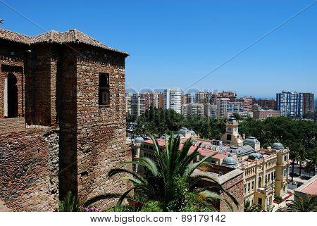 Castle and city, Malaga.