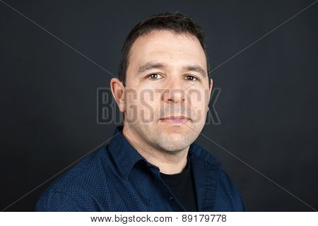 Man With Neutral Expression