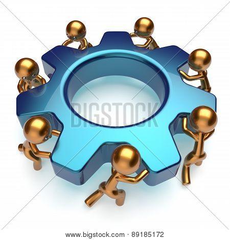 Partnership Teamwork Business Process Workers Make Job