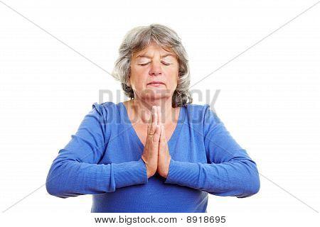 Pensioner Meditating