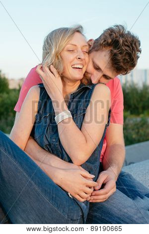 Happy Hansome Young Couple