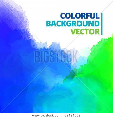 background of multi-color ink splash vector design illustration