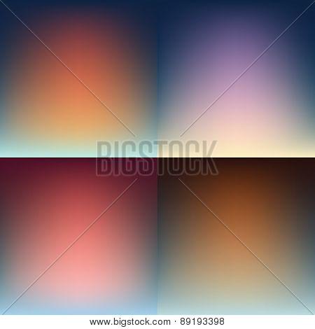 Blur Backgrounds. Vector Design.